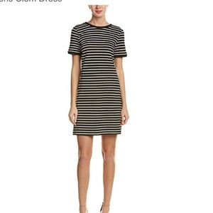 Striped T-shirt dress with lace up back